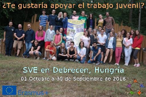 Plaza de voluntario/a en proyecto de SVE aprobado en Hungría
