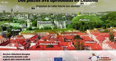 2 Plazas de SVE aprobadas en Lituania – Urgente