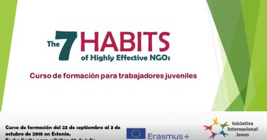 Curso de formación en Estonia. The 7 Habits of Highly Effective NGOs