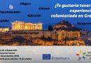 Tres plazas para un proyecto de voluntariado aprobado en Grecia – URGENTE