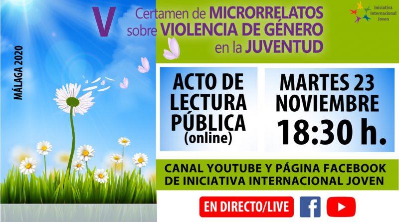 Acto de Lectura Pública del Vº Certamen de Microrrelatos sobre Violencia de Género en la Juventud