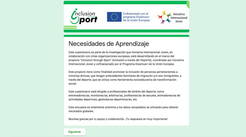 Inclusion through Sport- necesidades de aprendizaje
